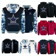 Dallas Cowboys Hoodies Thicken Hooded Fleece Sweatshirts Winter Warm Jacket Coat