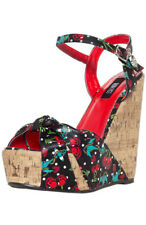 IRON FIST  Women's  CHERRY GLAZER (CHERRY SKULLS) WEDGES  Brand New in Box