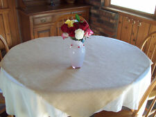 Tablecloth Burlap Natural Square Overlay 59 Inch By Broward Linens