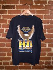 Vintage 80s Harley Davidson Bald Eagle Motorcycle Gang T Shirt Large Made in USA