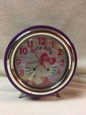 Hello Kitty Purple Alarm Clock Battery Operated