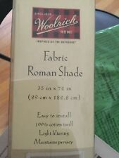 New Woolrich 100% Cotton Twill Fabric Shade - 35�W x 72�L