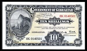 Gibraltar 10 Shillings 50 pence, (1934) 2018, UNC, BUNDLE 100 PCS, Legal Tender
