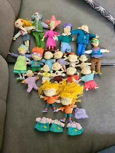 """Lot of 19 Vintage Nickelodeon Rugrats Collectible 4""""-7"""" Doll Figures Mattel 1997"""