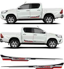 Toyota Hilux side TRD decals stickers stripes MK6 7 & 8 AN101 AN20 AN120 AN130
