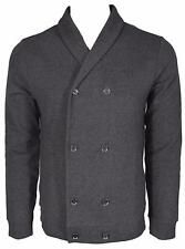 NEW BOSS Hugo Boss Black Label $295 Slim Fit Military Cardigan Sweater Shirt L