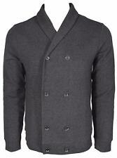 NEW BOSS Hugo Boss Black Label $295 Slim Fit Military Cardigan Sweater Shirt L