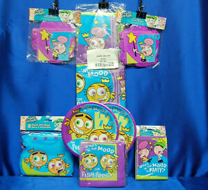 Fairly Odd Parents Party Set # 8  Plates Napkins Banner Tablecloth Invites
