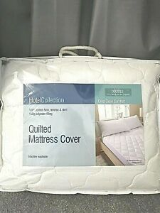 Mattress Bed Protector Topper Fitted Cover DOUBLE Size 150g Polyester FILLING
