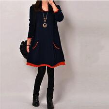 Brand new Korean Style Soft Velvet Lining Loose Pockets Dress Top Size XS