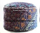 Mandala Round Ottoman Designer Indian Handmade Floor Pillow Cover Pouf Footstool
