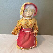 "Vintage Collectible 12"" Soap Bottle Granny Doll Hand Crafted Victorian Lady"