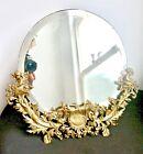Dreamy Art Nouveau Fairies on a Wonderfully Designed Brass Framed Beveled Mirror