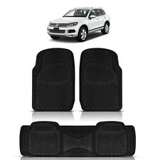 3PC DUTY ACK RUBBER FLOOR MATS for VOLKSWAGEN TIGUAN TOUAREG