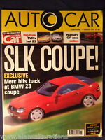 AUTOCAR Magazine 13th August 1997 Mercedes SLK Coupe