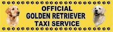 GOLDEN RETRIEVER OFFICIAL TAXI SERVICE  Dog Car Sticker  By Starprint
