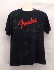 Vintage Unisex Fender T-Shirt Black Size L/Large Short Sleeve