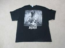 Justin Bieber Concert Shirt Adult 2XL XXL Black Gray Purpose Tour Pop Singer Men