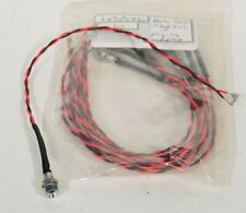 RED LED + BEZEL WITH NUT WITH FLYING LEADS OPEN ENDED 3V