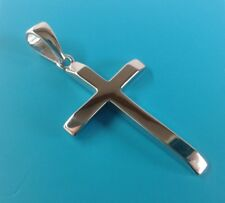 Sterling Silver Plain SOLID Large cross pendant. 5.6 grammes. RRP £36.85!