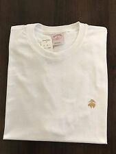 NWT BROOKS BROTHERS 1818 MEN'S S/S GOLDEN FLEECE CREW NECK TEE WHITE SZ S_2XL