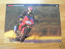 D363 BROCHURE DUCATI SUPERSPORT 900 ENGLISH 2 PAGES 1999
