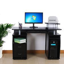 PC Computer Desk Table Workstation Monitor Printer Shelf Furniture Home Office