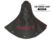 """For Audi TT 1998-2006 Gear Stick Gaiter Leather """"quattro"""" Red Embroidery"""