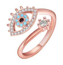 Ring Einstellbar Kupfer Rosa Symbol Auge Schutz