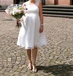 Brautkleid Hochzeitskleid Genevieve von Mamarella Umstands Kleid weiß Gr.38/40