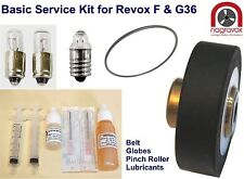 Revox F36 basic Service Kit includes belt, globes, Pinch Roller & lubricants