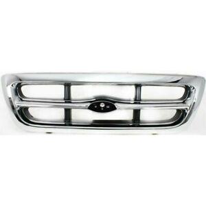 New Grille Chrome Front For Ford Ranger 1998-2000 FO1200340 2-Door-4-Door