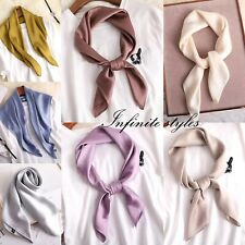 Women Lady Quality Classic Large Square Silk Scarf Wrap 70*70cm- 15 Colours