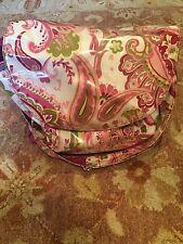 Designer paisley pink Diaper bag