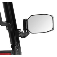 Seizmik Strike Side Black View Mirrors Set Polaris Pro-Fit Roll Cage Mounted
