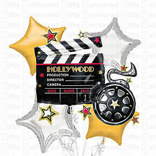 Foil Hollywood Clapboard Balloon Bouquet 5pc -Hollywood Balloons ,Hollywood Them