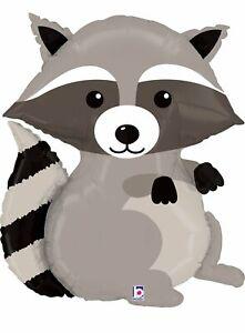 "XL 36"" Raccoon Woodland Critter Mylar Foil Balloon Super Shape Party Decoration"