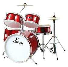 """XDrum 16"""" Kinder Schlagzeug Beginner Drum Set Trommel Becken Sticks DVD Rot"""