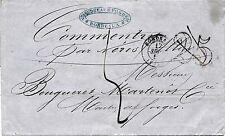 Lettre bordeaux Gironde Taxe 25 annulé puis Taxe manuscrite Cover