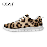 Animals Leopard Lady Women Sport Comfy Mesh Smart Sneakers Casual Running Shoes