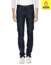 RRP €610 GIVENCHY Jeans Size 30 Contrast Stitching Leather Trim Button Fly
