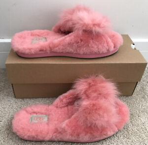 New Ugg Pink 'Mirabelle' Slip-On Slippers Uk Size 5 / Eu 38