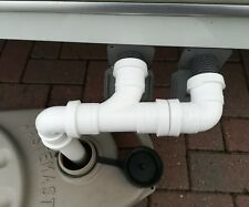 Double Caravan Waste Water Outlet Hose Pipe Adapter Use With Waste Hog / Master