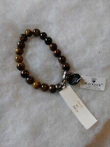 Blackjack Men Bracelet Genuine Tiger Eye BJS16BTE