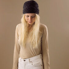 Black Wool Thick Wide Knitted Winter Headband Hair Band Stretchy Dreadlocks Wrap