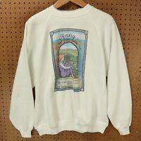 vtg 80s 90s usa made raglan sweatshirt XL anne of green gables book soft thin