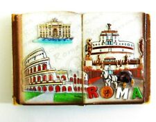 Posta Pro1-CALAMITA FRIGO MAGNETE SOUVENIR ITALIA ROMA BOOK ANTIQUA COLOSSEO CAS