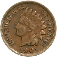 1901 Indian Head Cent Very Fine Penny VF