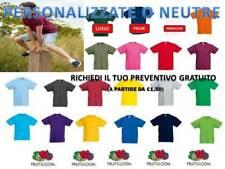 STOCK pezzi 30 FRUIT OF THE LOOM T-shirt BAMBINO maglietta BAMBINA T-shirt e maglie Bambino: abbigliamento