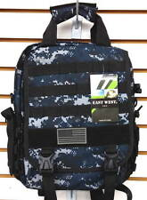 Laptop Backpack Rucksack Tactical Shoulder Messenger Bag NAVY ACU Molle Design